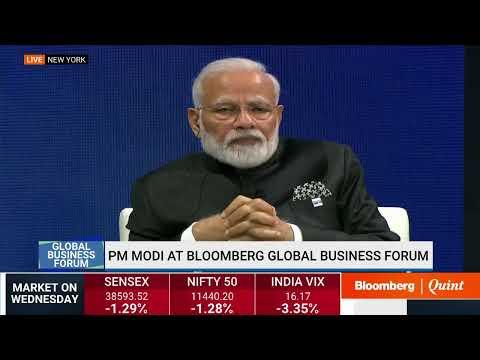 PM Narendra Modi's Full Speech: Bloomberg Global Business Forum 2019