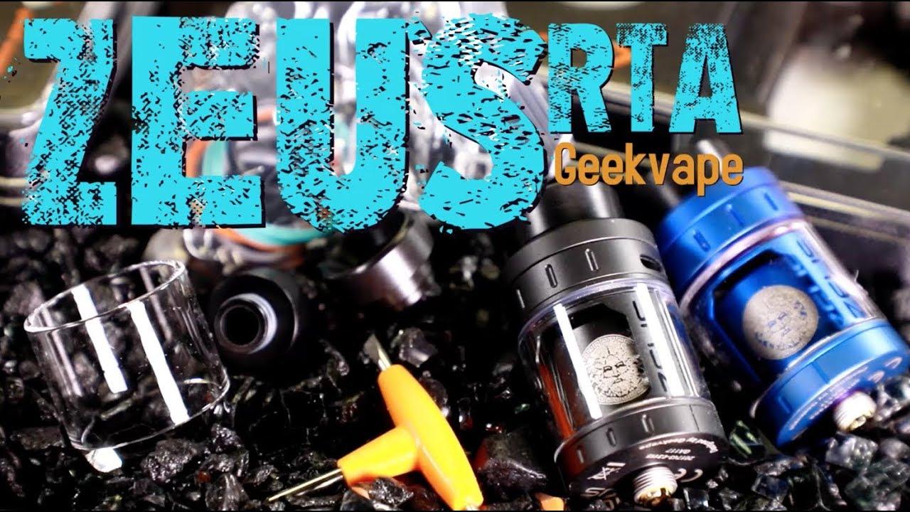 ZEUS RTA by Geekvape (LEAK PROOF with SINGLE COIL BUILD)~RTA Tank ...
