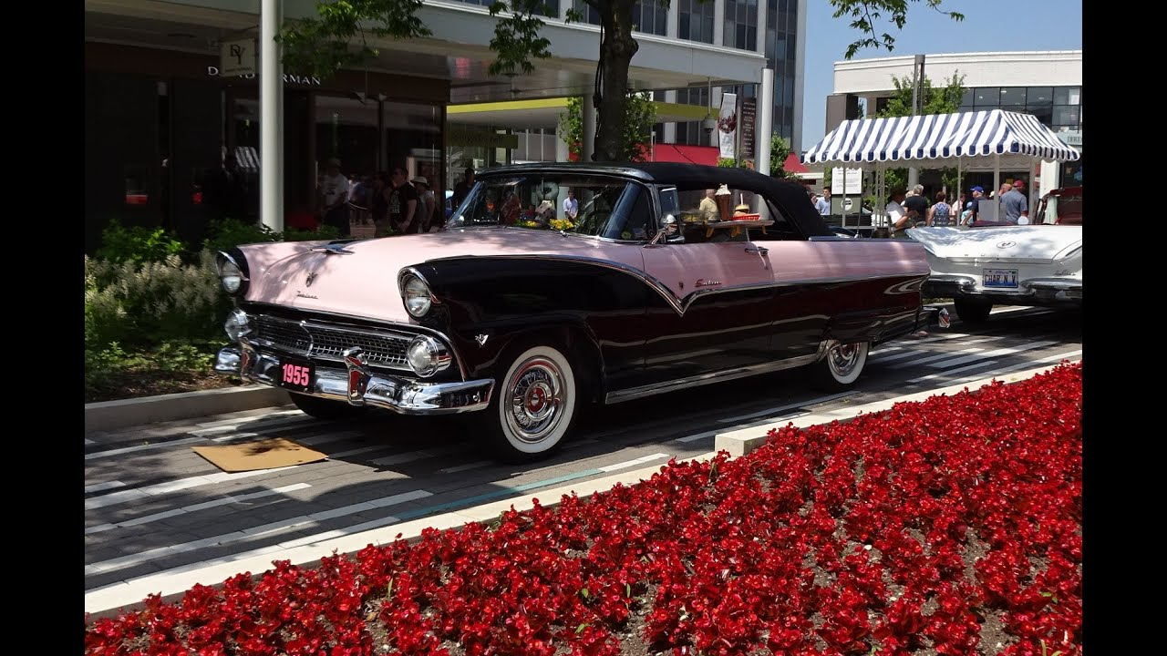 1955 Ford Fairlane Sunliner In Pearl Mist Pink Black Start Up On My Car Story With Lou Costabile