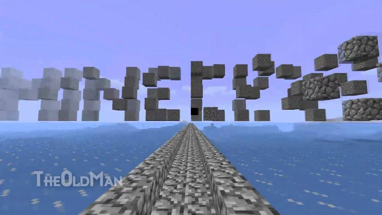 Minecraft Logo Animated In Minecraft - YouTube