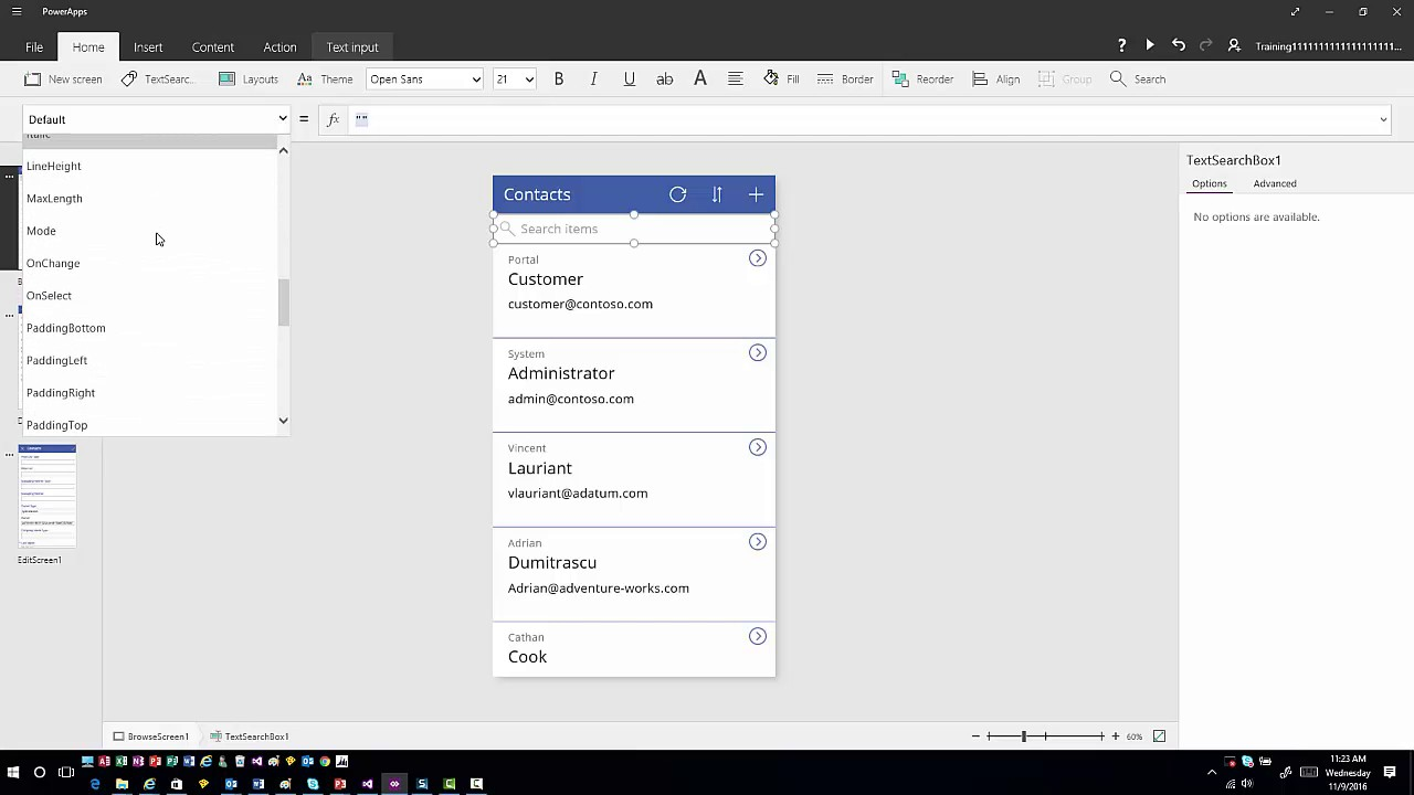 PowerApps Connection Options