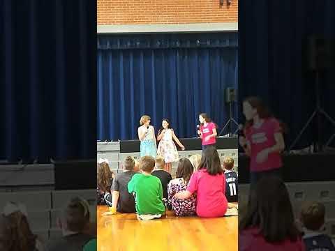 #hamilkids Calvert City Elementary School talent show. #schylursisters