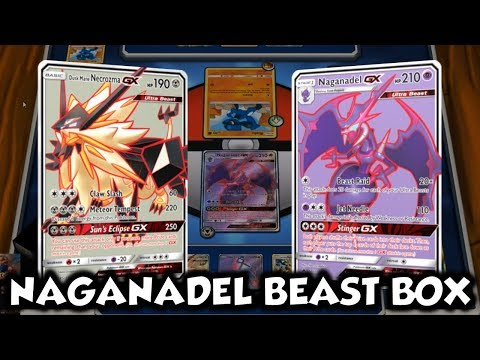BEAST BOX   Naganadel GX/Dusk Mane Necrozma GX Deck Profile and Battles w/ TrainerChip