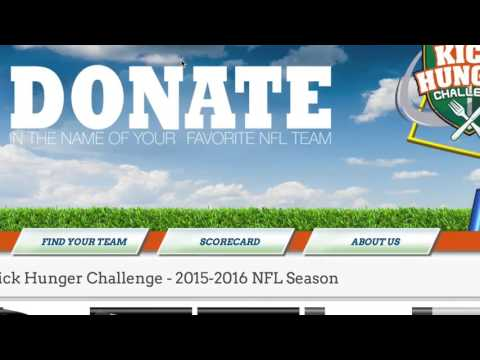 Karl Mecklenburg and the Kick Hunger Challenge for Super Bowl 50