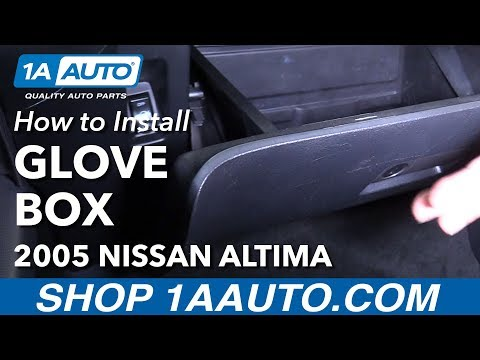 How to Install Replace Glove Compartment Box 2005 Nissan Altima