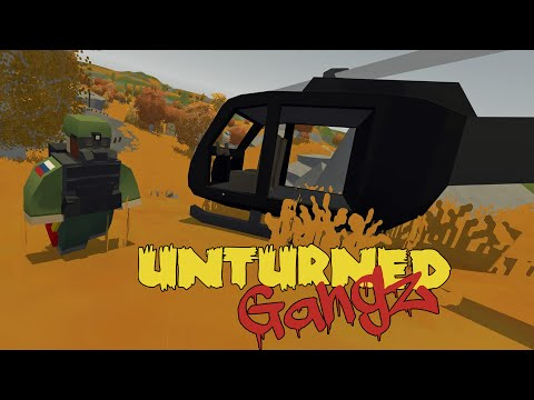 Unturned Russia | GangZ S2 | 09 - SUPPLY DROP / HUMMINGBIRD HELICOPTER / OIL RIG PLATFORM