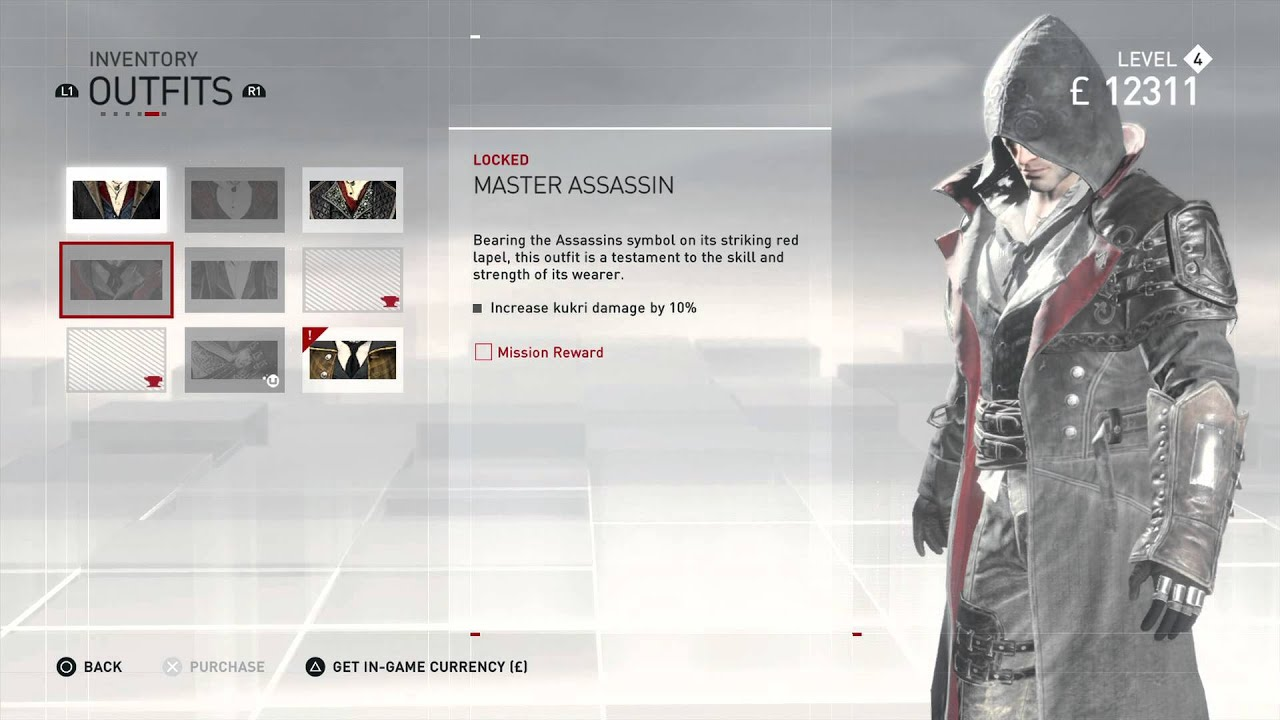 Assassin S Creed Syndicate All Jacob Outfits And Colors Youtube
