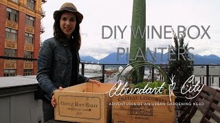 Diy Mini Wine Box Planters