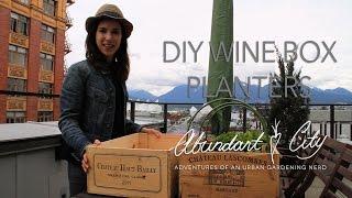 Diy Mini Wine Box Planters