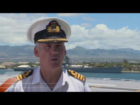 HMAS Canberra arrives in Pearl Harbour