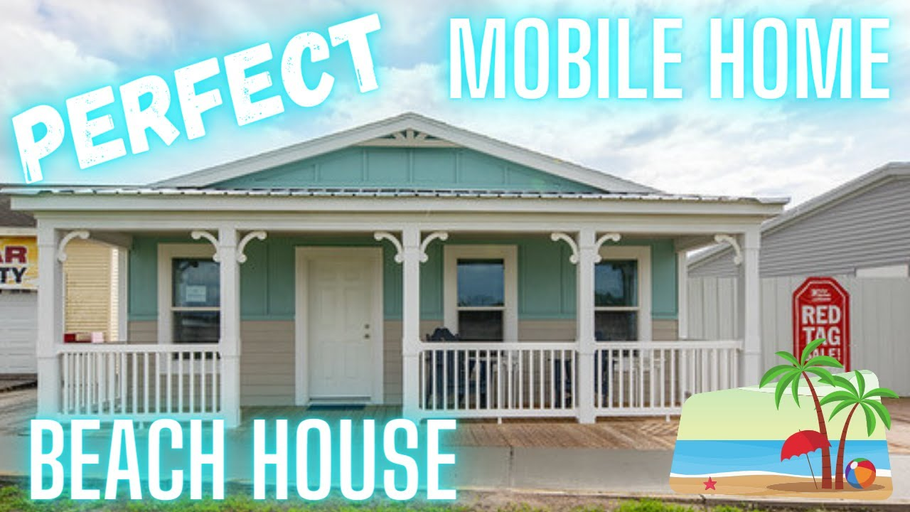 PERFECT beach house mobile home! This double wide gives me vacation vibes!! Mobile Home Tour
