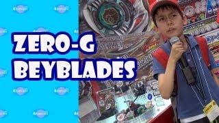 Beyblades with Zero-G Beystadium Takara Tomy Tokyo Toy Show