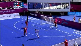 Football 5-a-side FRA vs TUR - 2nd half - Men's Team - B1 Prelims -London 2012 Paralympic Games