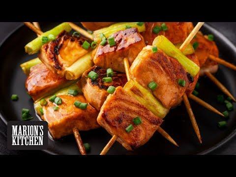 Teriyaki Salmon Skewers Marion's Kitchen