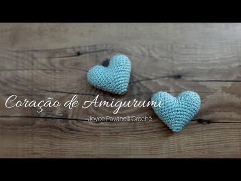 Coração de Amigurumi médio