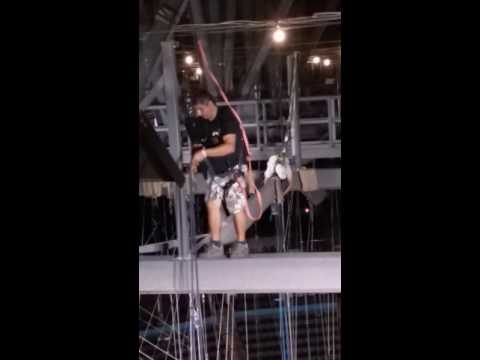 Up Rigging at the Chesapeake energy arena