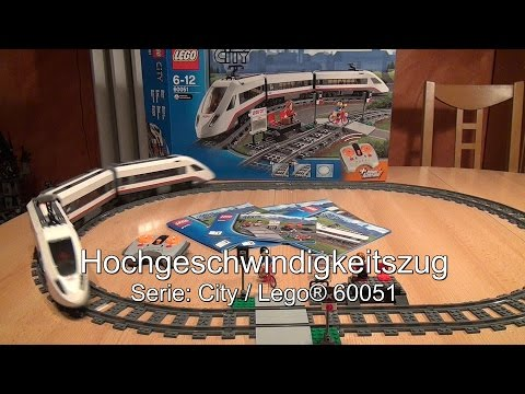 Test LEGO Hochgeschwindigkeitszug (City Set 60051)