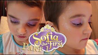 Sofia The First Inspired Makeup Tutorial (Disney Princess) Halloween edition part 1
