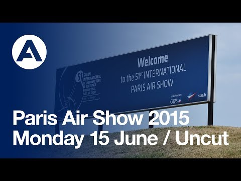 Paris Air Show 2015 - Monday 15 June - A380 and A350 XWB Flying displays (uncut version)
