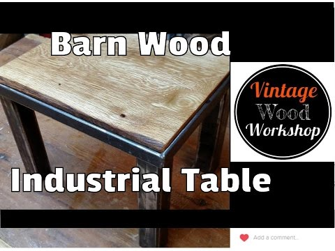 Oak and Steel Industrial Table- Vintage Wood Workshop