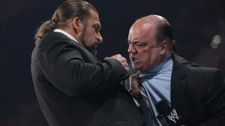Triple H punches Paul Heyman: Raw, June 18, 2012