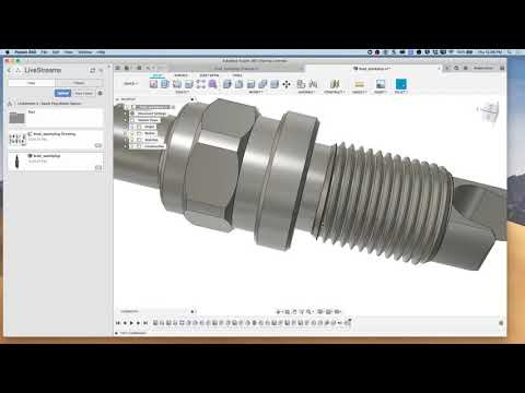 Fusion 360 LIVE Mill/Turn Programming Tool Paths for Spark Plug Bottle  Opener, Part 2 of 4