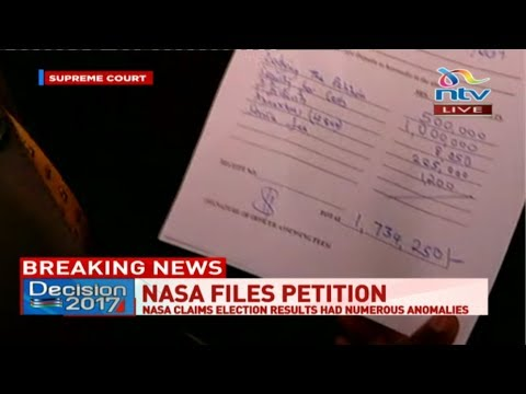 LIVE: Nasa files election petition papers at the Supreme Court