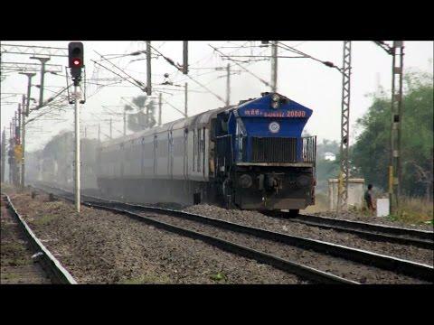 [HD] The Fastest Diesel Train of India!! WDP-4 NJP Shatabdi Overtakes WAP-4 Kumbha Exp @ 130 Km/Hr!!