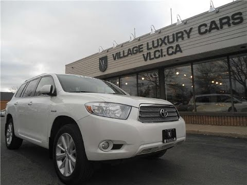 2008 Toyota Highlander Hybrid In Review Village Luxury Cars Toronto