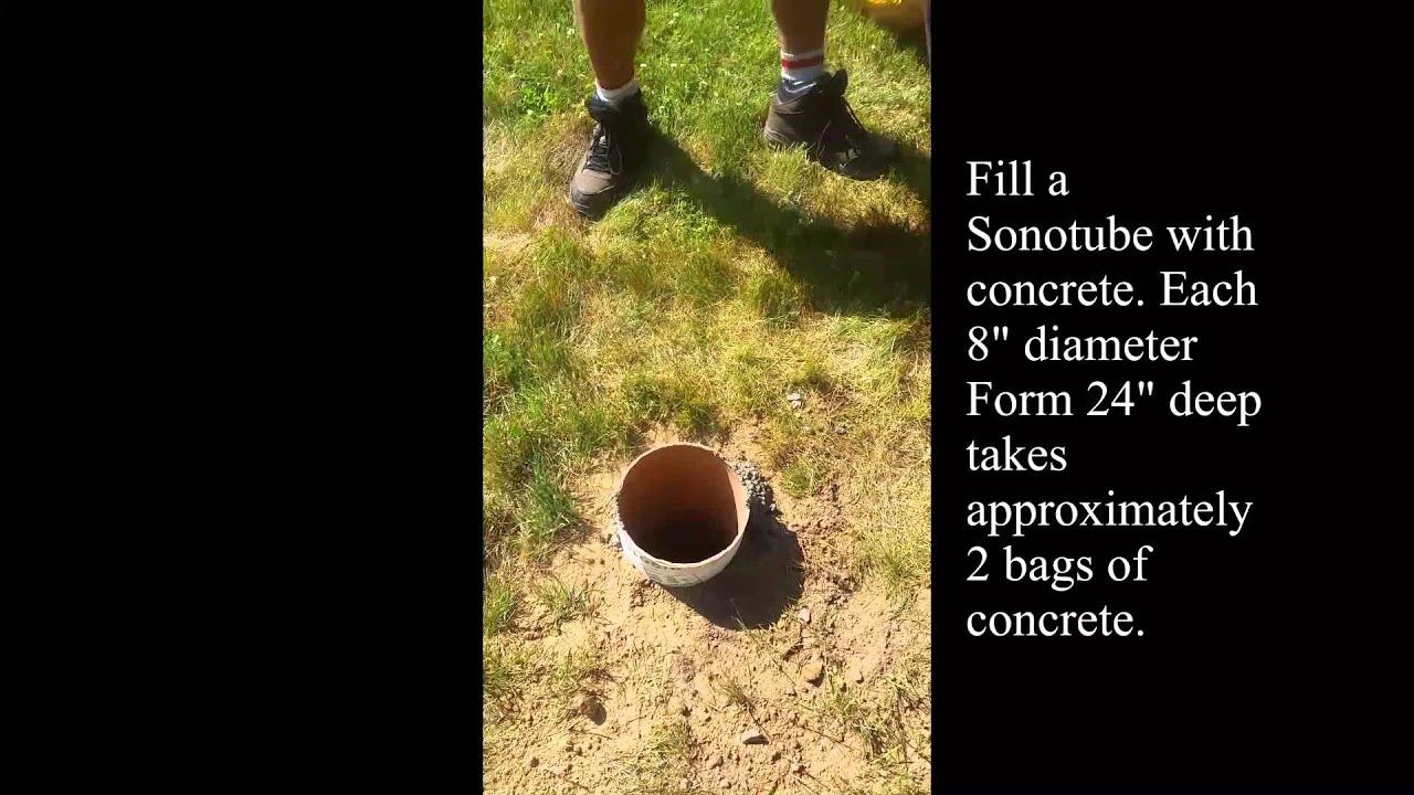 How To Pour Concrete Footings For A Cedar Pergola Video