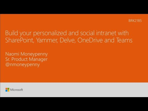 Build Your Personalized And Social Intranet With Sharepoint Yammer Delve Onedrive And Te