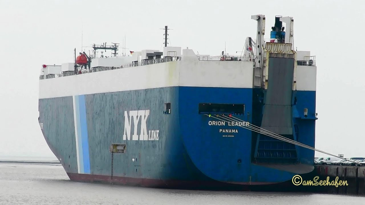car carrier ORION LEADER 3FSG9 IMO 9182289 Emden RoRo cargo seaship  merchant vessel Autotransporter