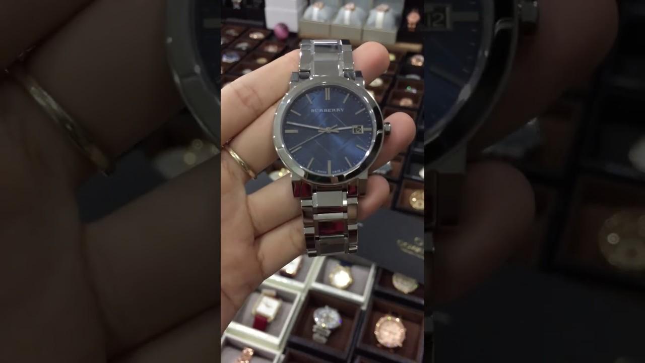 burberry blue face watch