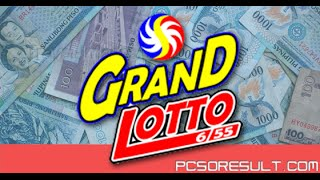 PCSO 6/55 Grand Lotto Results Today in the Philippines
