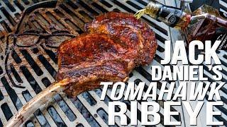 JACK DANIEL'S WHISKEY TOMAHAWK RIBEYE STEAK (WOW!) | SAM THE COOKING GUY 4K