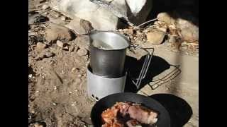 Canteen Cup Coffee Ramon Noodles Ham With The One Egg Wonder And Folding Stove