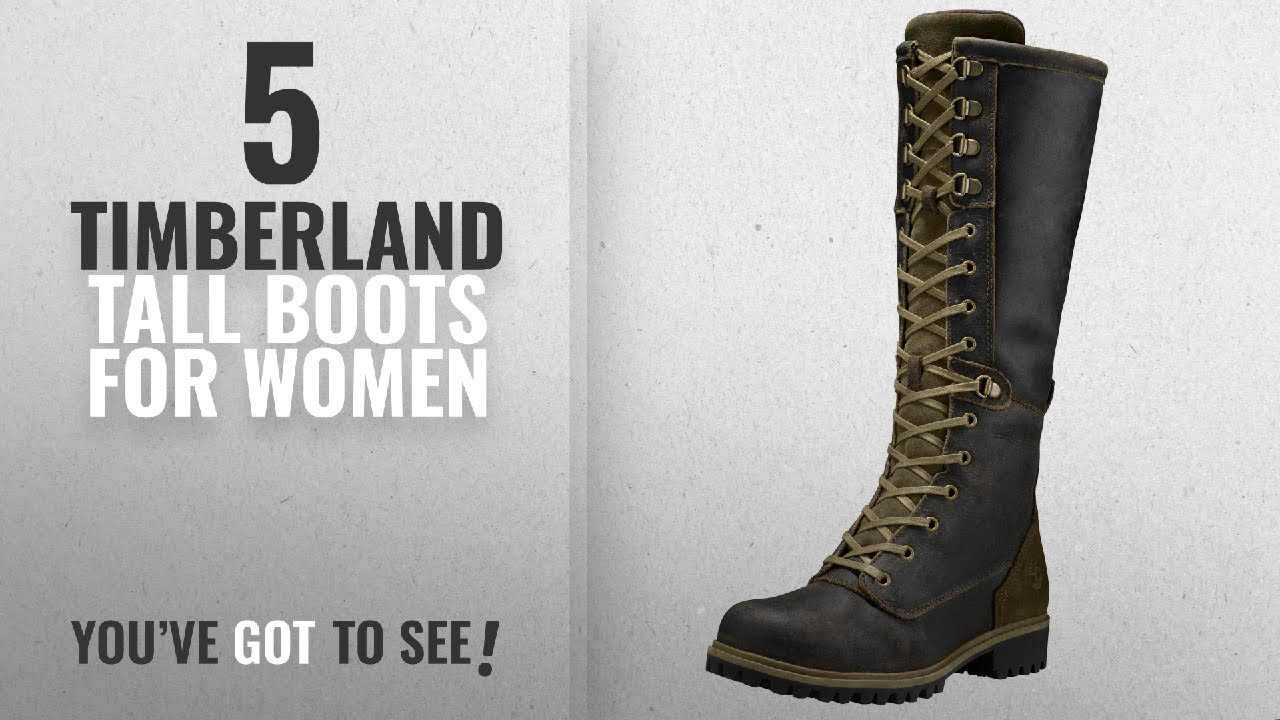 d102631355f Top 5 Timberland Tall Boots For Women [2018]: Timberland Women's  Wheelwright Tall Lace Waterproof