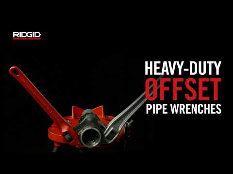 RIDGID Heavy-Duty Offset Pipe Wrenches