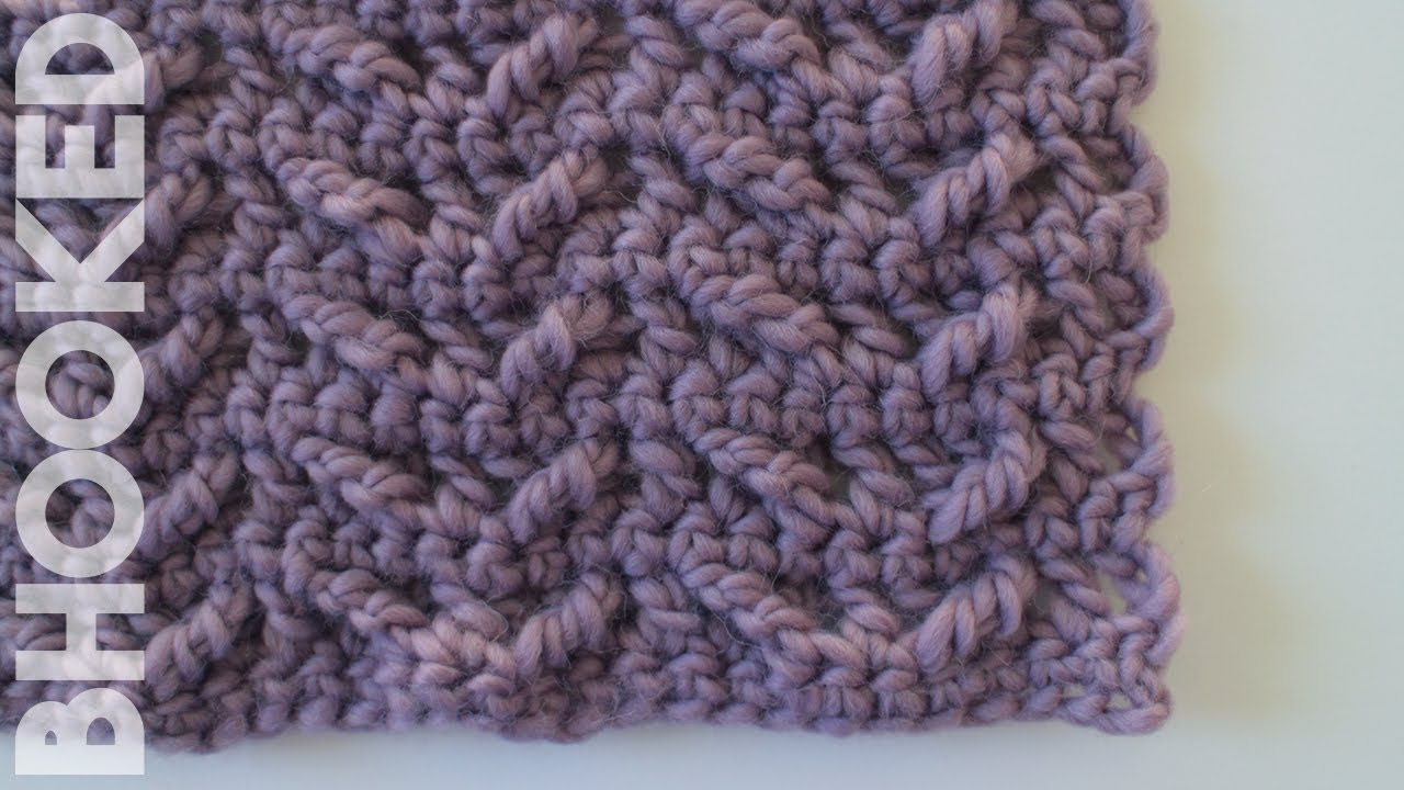How To Crochet The Winged Cable Stitch