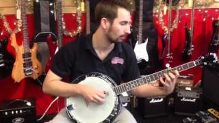 Washburn B14 5-String Banjo Demonstration Bluegrass Old Time Folk Americana  Lessons