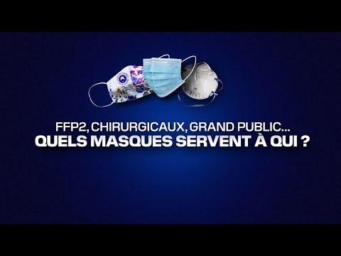 FFP2, chirurgicaux, grand public… quels masques servent à qui ?