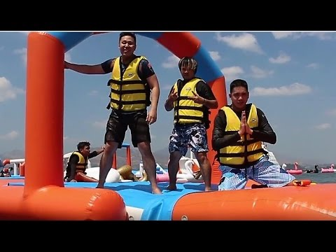 Corner10Boys VLOG #2: The boys invade the Inflatable Island!