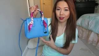 MCM包包开箱分享 | MCM Milla Mini Unboxing Tile Blue | crystalforest
