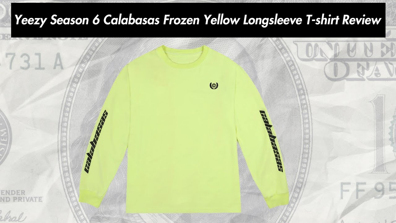 773e74ce4 Biggest streetwear, skateboarding and fashion clothing brands photo and  video reviews blog: Yeezy Season 6 Calabasas Frozen Yellow Longsleeve T- shirt Review
