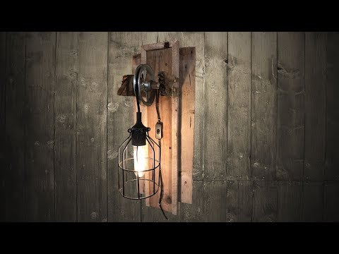 DIY, Easy, Step By Step How To Build, Make Vintage Barn Wood Lights! EASY