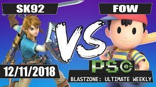 PSG Blastzone: SK92 (Link) vs FOW (Ness) - Winners Semis
