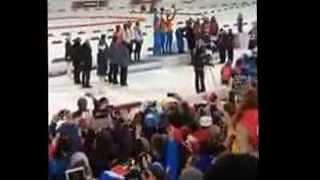 Биатлон Финиш Шипулин и золото России в эстафете СОЧИ 2014