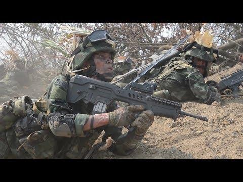 Tavor TAR-21 Bullpup Assault Rifle Live Fire With Royal Thai Army