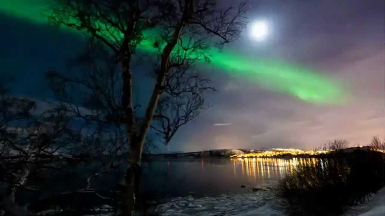 [HD] Chiêm Ngưỡng Cảnh Đẹp Bầu trời Bắc Cực về đêm!