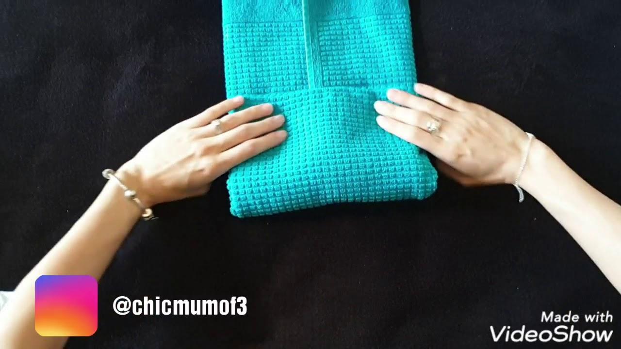 Tuto pliage des serviettes #mariekondo - YouTube